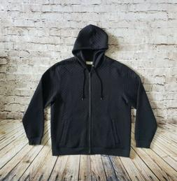 $145 Tommy Bahama Quilt This City Zip Up Hoodie in Black Men