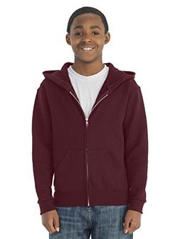 Jerzees 993B Youth NuBlend Full-Zip Hooded Sweatshirt - Maro