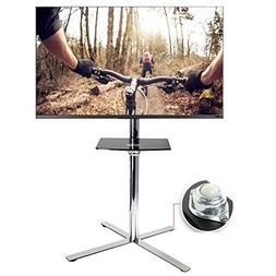FLEXIMOUNTS C02 Stainless Mobile TV Cart LCD Stand for 32''-