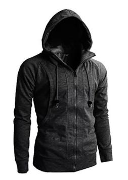 H2H Men's Casual Fashion Active Jersey Slim Fit Hoodie Zip U