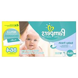Pampers Baby Fresh Water Baby Wipes 12X Refill Packs, 864 Co