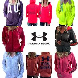Womens Under Armour Jacket UA ColdGear Logo Full Zip Hoodie
