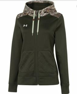 Womens UNDER ARMOUR Storm CALIBER Realtree Camo Full Zip Hoo