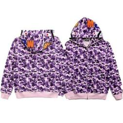 Bape A Bathing Ape Hoodie Sweater Shark Head Camo Coat Jacke