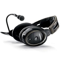 Bose A20 Aviation Headset with Bluetooth Dual Plug Cable, Bl