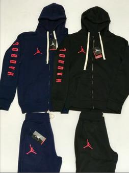 AIR JORDAN NIKE MENS SWEATSUIT HOODIE AND JOGGERS ZIP UP COM