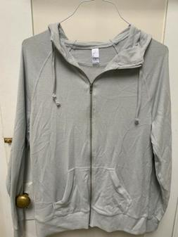 Alternative Apparel Eco Zip Hoodie Mens Size Small Brown/cre