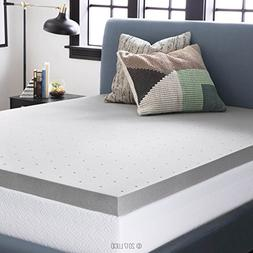 LUCID 3 Inch Bamboo Charcoal Memory Foam Mattress Topper - F
