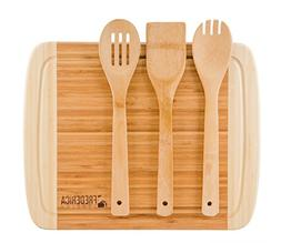 Frederica Trading Premium Bamboo Cutting Board and Chopping