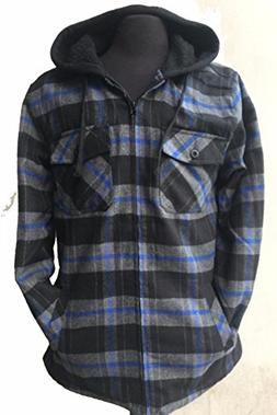 Golden Tree  Big & Tall Men's Full Zip Hooded Flannel & Sher