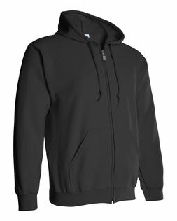 Gildan BLACK Zip Hoodie Heavy Blend Full Zip Hooded Sweatshi