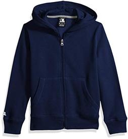 Starter Boys' Solid Zip-Up Hoodie, Amazon Exclusive, Team Na