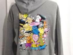 Cartoon Network Gray Jerzees Full Zip Hoodie Mens 2XL NWT