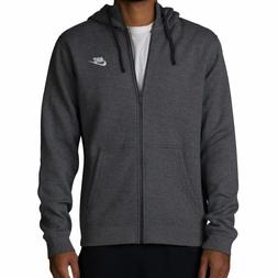 Nike Club Men's Fleece Hoodie, Tall Sizes, Full Zip, Hooded