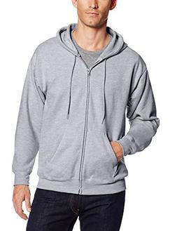 Hanes Men's Full Zip EcoSmart Fleece Hoodie Light Steel X-La