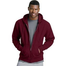 Hanes Men's ComfortBlend Full-Zip Hood 7.8 oz., 3XL-Maroon