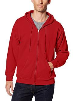 Hanes Men's ComfortBlend Full-Zip Hood 7.8 oz., 3XL-Deep Red