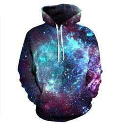 Dark Rose Shining Galaxy Pattern Print Zip Up Hoodie Long Sl