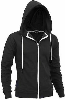 """DELIGHT"" Men's Fashion Fit Full-zip HOODIE with Inner Cell"