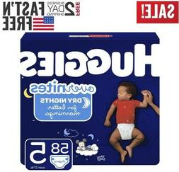 Diapers size 5 HUGGIES OverNites Diaper Size 5 58 count- Bab