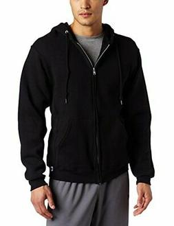 Russell Athletic Men's Dri Power Full Zip Fleece Hoodie, Bla