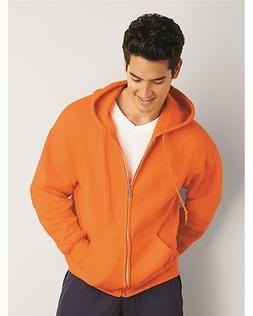 Gildan DryBlend Full Zip Up Mens Hoodie Hooded Sweatshirt Ho