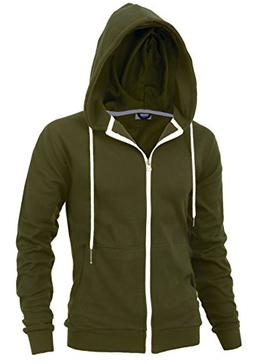 """DELight"""" Men's Fashion Fit Full-Zip Hoodie with Inner Cell P"""