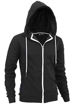 """""""DELIGHTS"""" Men's Fashion Fit Full-zip HOODIE with Inner Cell"""