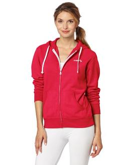 Asics Women's Fleece Hoodie, Neon Pink, Small