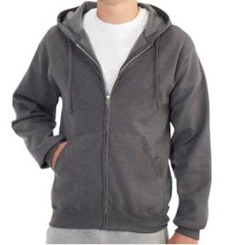 FRUIT OF THE LOOM Men's Fleece Full Zip Hoodie Sweatshirt Me