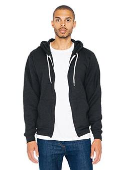 American Apparel  Unisex Flex Fleece Zip Hoodie, Black, Smal