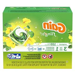 Gain Flings Laundry Detergent Pacs -3 Bags of 40 Pacs