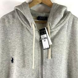 POLO Ralph Lauren Full Zip Hoodie Sweatshirt Natural Heather