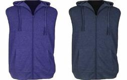 ESPIONAGE FULL ZIP SLEEVE LESS HOODED SWEAT SHIRT,SIZE 2XL-8