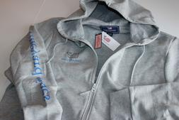Vineyard Vines Graphic Full Zip Hoodie Jacket Gray Whale New