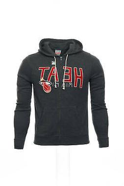 gray heather nba miami heat full zip
