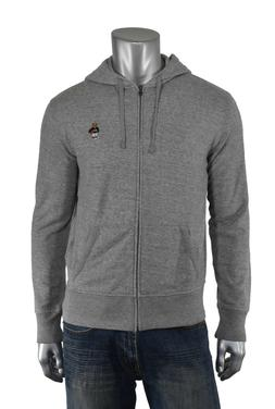 Ralph Lauren Polo Grey Fleece Basketball Bear Full Zip Hoodi