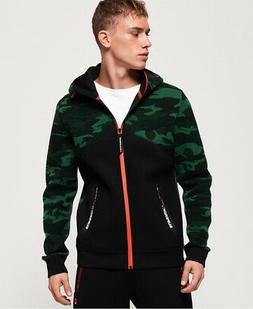 Superdry Mens Gym Tech Spliced Zip Hoodie