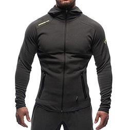 Men's Gym Workout Hoodie Jacket Fitted Training Bodybuilding