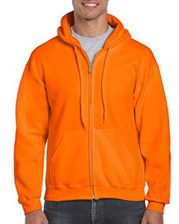 Gildan Heavy Blend Fleece Full Zip Hoodie S, Safety Orange