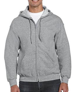 Gildan Heavy Blend Fleece Full Zip Hoodie S, Sport Grey
