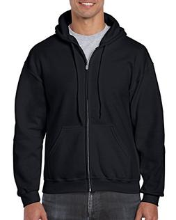 Gildan Heavy Blend Fleece Full Zip Hoodie XXL, Black