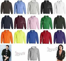 Gildan Heavy Blend Full Zip Hooded Sweatshirt Hoodie 18600 S
