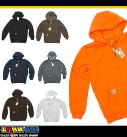 Carhartt Hooded Full Zip Front Sweatshirt Mens Midweight Str