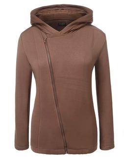 IN'VOLAND Womens Plus Size Inclined Full Zip up Thermal Flee