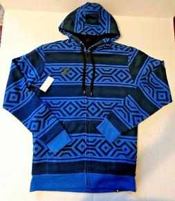DC Jacket Small All Over Men's Sherpa Full Zip Hoodie Tech P