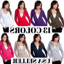 Color Story Junior Women's Fitted Thermal Zip Up Hoodie Swea