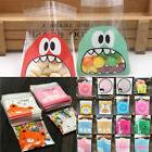 100 x Self Adhesive Cookie Candy Package Gift Bags Cellophan