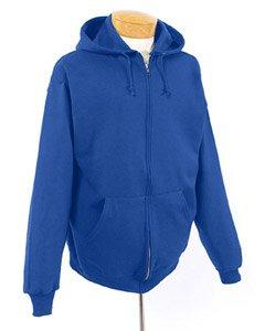 Jerzees 50/50 Youth Full-Zip Hooded Sweatshirt, XL, Forest G