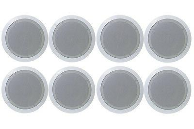 8) Pyle PDIC51RD 5.25 Inch 150W Round White In Ceiling Wall